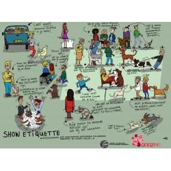 """Poster """"Showetiquette""""  (pdf, A0-formaat voor druk)"""